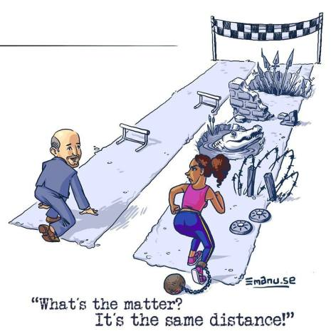 Women struggle