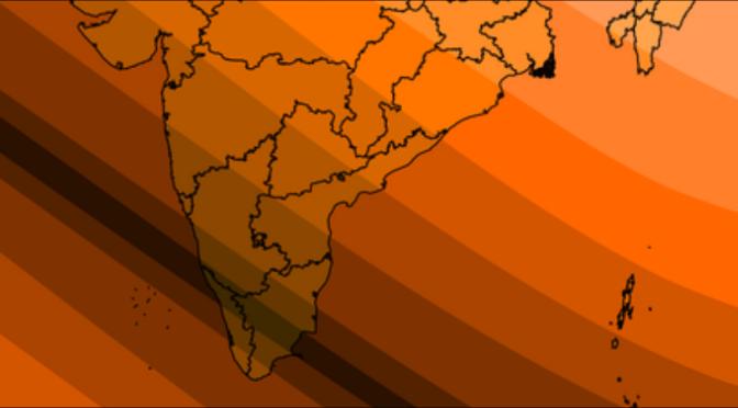 2019 ഡിസംബർ 26 ന് ഇന്ത്യയിൽ ദൃശ്യമാകുന്ന വലയസൂര്യഗ്രഹണത്തിന്റെ മാപ്പ്